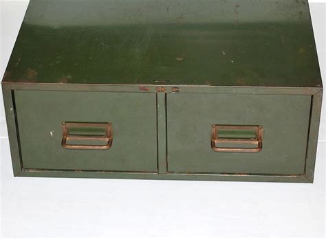 industrial grunge green 2 drawer metal file cabinet from