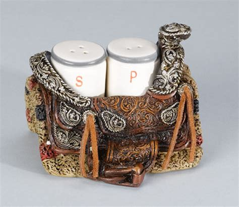 country style salt and pepper shakers western saddle salt and pepper shaker set rustic