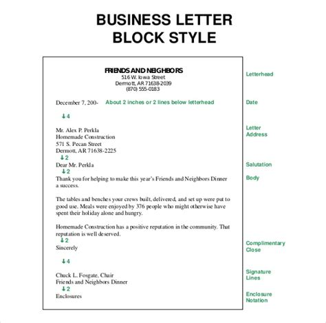 In The Block Style Business Letter Do Not Indent The Paragraphs Business Letter Template 44 Free Word Pdf Documents Free Premium Templates