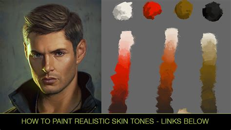 how to paint realistic skin tones tutorial by andantonius on deviantart