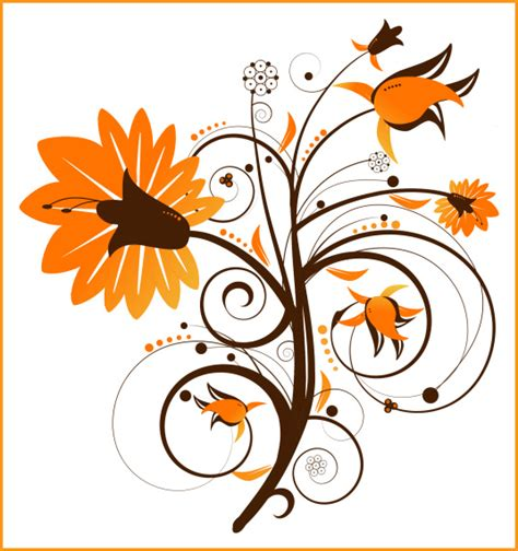 graphics clipart autumn floral swirl graphics butterflywebgraphics
