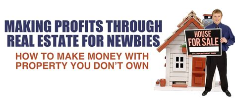 profits through real estate for newbies with master