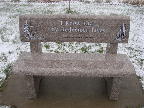 stone memorial bench laurentian monument granite and stone memorial benches