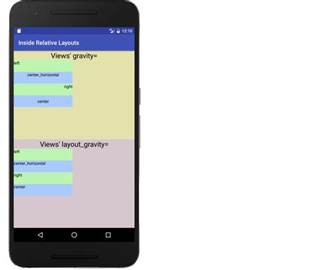 relative layout design in android android relative layout problem with gravity stack overflow