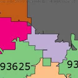 fresno california zip code map california map