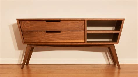 designing  building  modern credenza woodworking