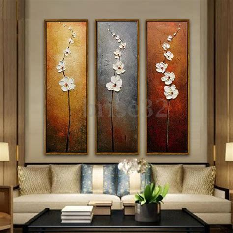 3pcs colorful flower canvas abstract painting print wall home decor unframed ebay