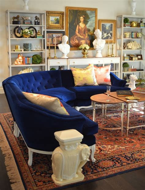 blue and white sofa and the 2016 color of the year is laurel home