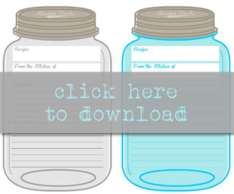 jar recipe card template i should be mopping the floor free printable jar