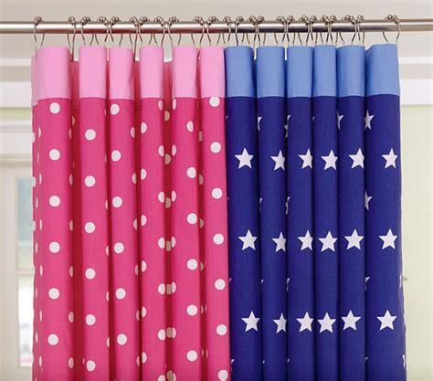 star shower curtains dot star shower curtains pottery barn kids