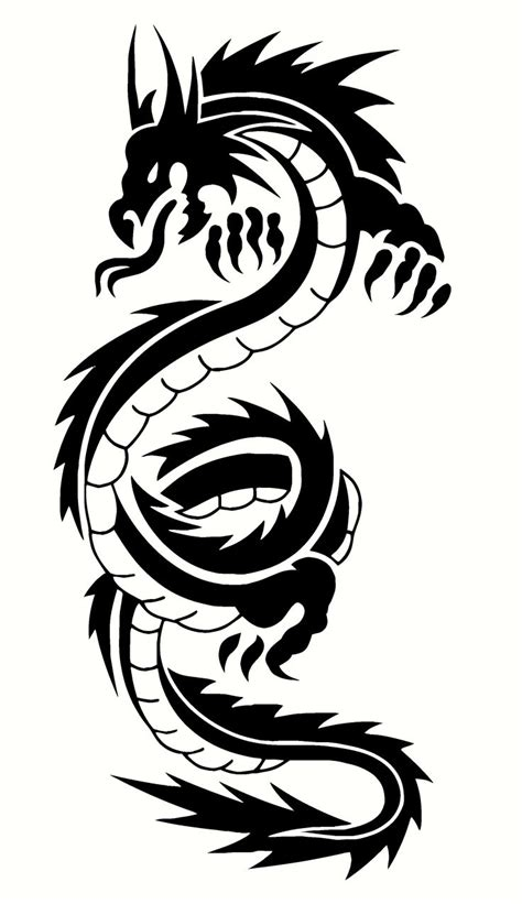 tribal chinese dragon tattoos 47 designs