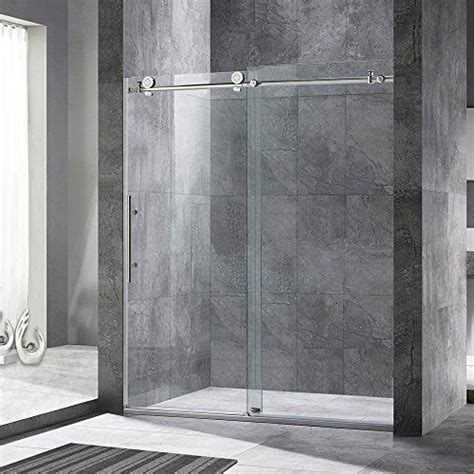 Frameless Shower Door Width Frameless Sliding Shower Door 56 60 In Width 76 Quot Hight 3 8 Quot 10 Mm Clear Tempered Glass