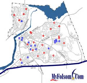 where is folsom california in the map folsom parks map myfolsom