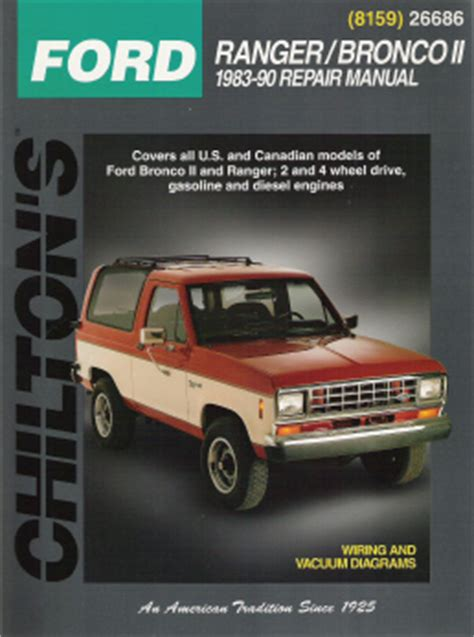 auto repair manual online 1990 ford ranger engine control 1983 1990 ford manual ranger bronco ii chilton s total car care manual