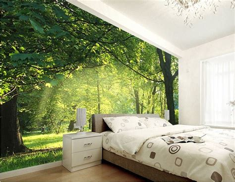 green wallpaper room custom 3d wallpaper idyllic natural scenery and flowers