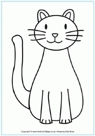 pet cat coloring pages pet animal colouring pages