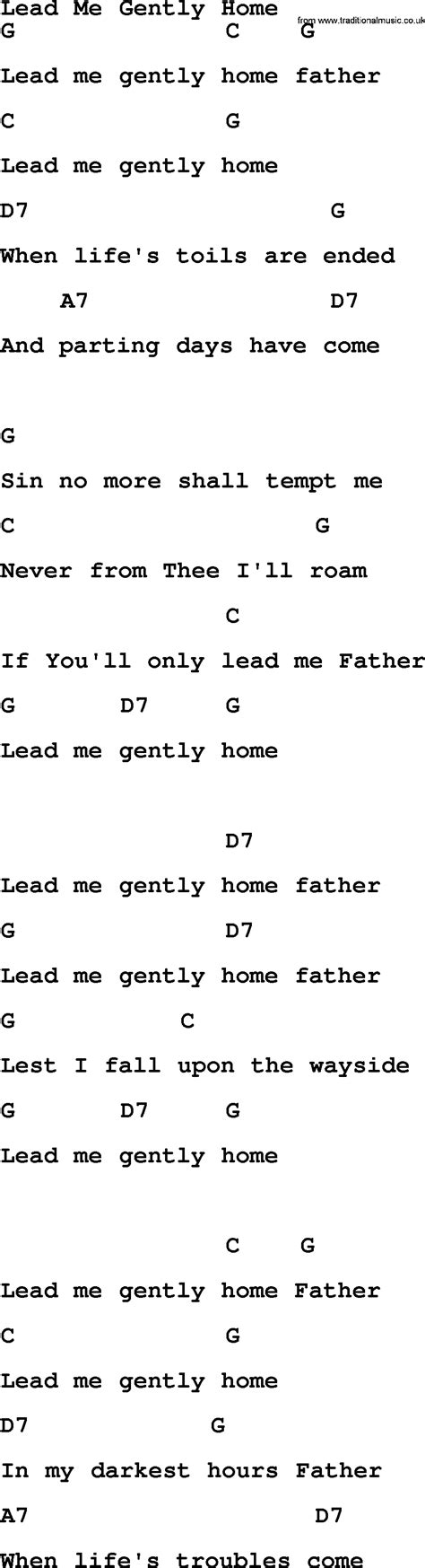 lead me gently home bluegrass lyrics with chords