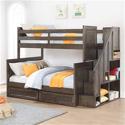 costco full bed ryan twin over full staircase bunk bed