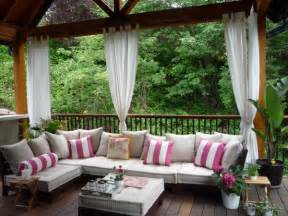 Beautiful Outdoor Patio Curtain From Sunbrella Front » New Home Design