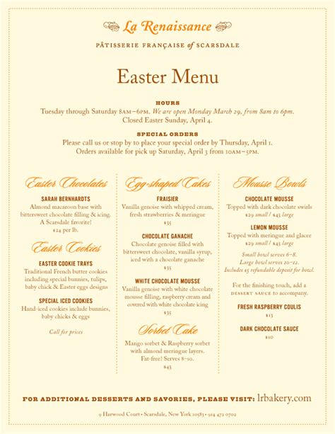 easter menu image search results