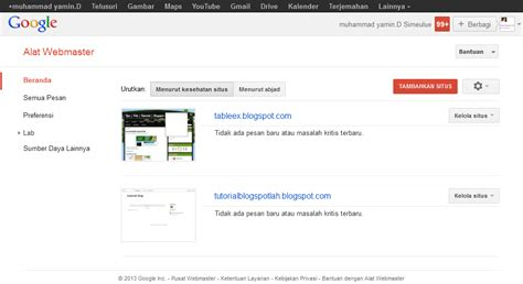 tutorial blogger google cara verifikasi google web master tools di blog tutorial