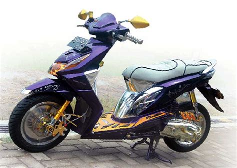 Modifikasi Beat by Honda Beat 08 Amuntai Sensasi Modif Elegan Nan Mewah