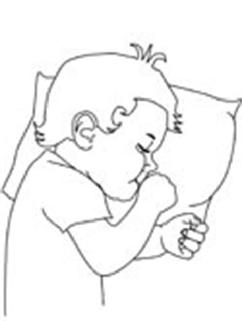 coloring page boy sleeping family coloring pages