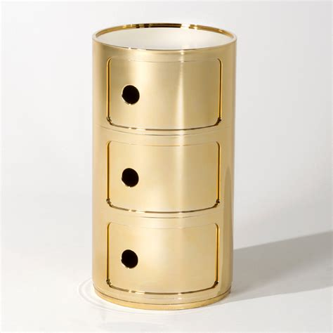 kommode gold kartell componibili 3er gold kommode schubladen container
