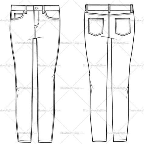 free jeans pattern illustrator women s crop skinny jean fashion flat template