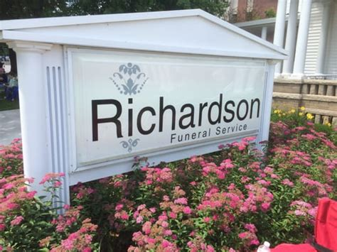 richardson funeral home funeral services cemeteries