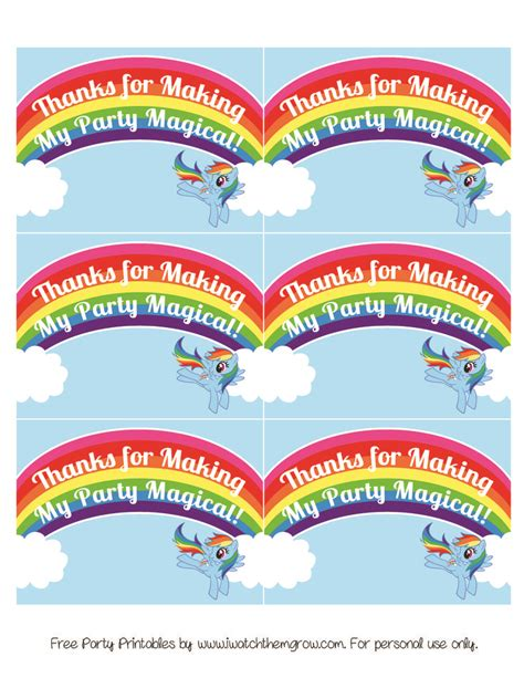 my little pony printable thank you cards 738 best rainbow dash party images on pinterest ponies