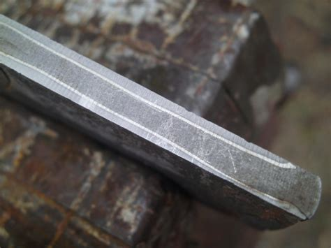 pattern welding stainless steel forge welding stainless and quot fire quot pattern damascus wip