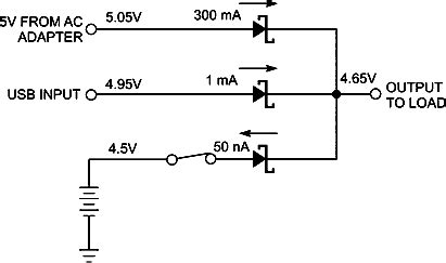 power oring diode use op s to make automatic oring power selector