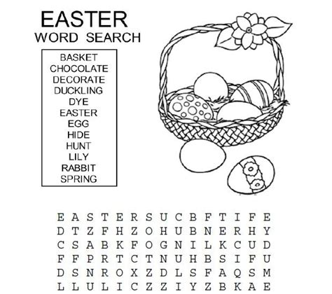 printable easter word search games easter word search for kids easter worksheets