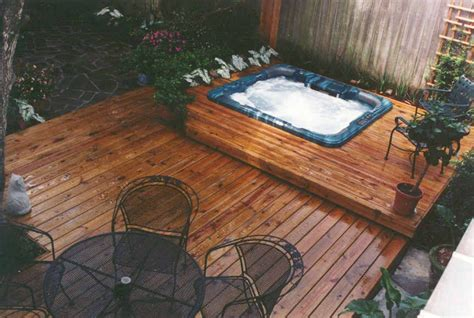 pin  scott diller     wife hot tub deck