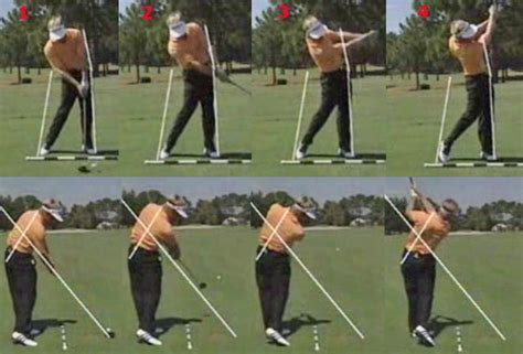 perfect left handed golf swing left arm after impact extension problems