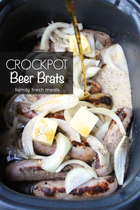 brats n beer recipe the best crockpot beer brats family fresh meals