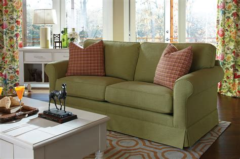 sofa with skirted base klaussner southern shores d46800 s traditional sofa with
