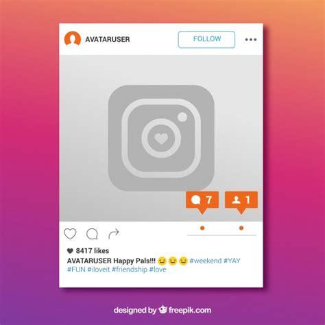 layout instagram descargar marco de instagram con mensaje nuevo descargar vectores