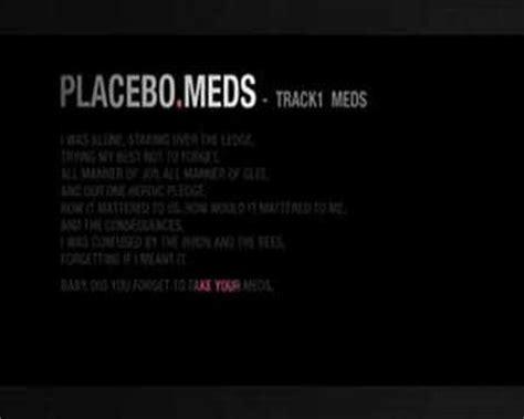 Detox Five Placebo Lyrics by Placebo Meds Lyrics