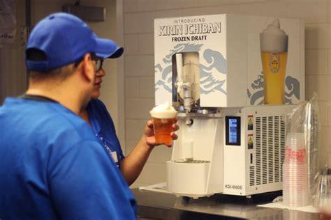 dodger stadium serves frozen beer foam  drink cold   minutes
