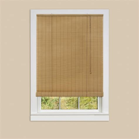 achim eclipse woodstone roll up 0 25 in vinyl blind 48