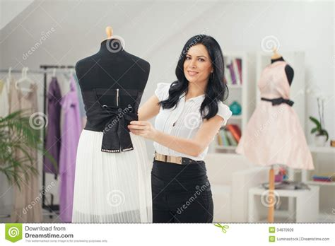 design clothes video fashion designer at her studio stock photo image 34870928