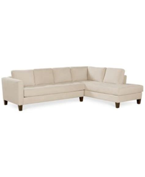 Martino Leather Sectional Sofa by Martino Leather Chaise Sectional Sofa 2 Apartment Sofa And Chaise Furniture Macy S