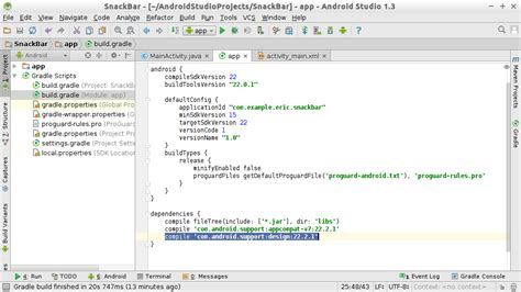 android studio add new layout android er add android design support library to android