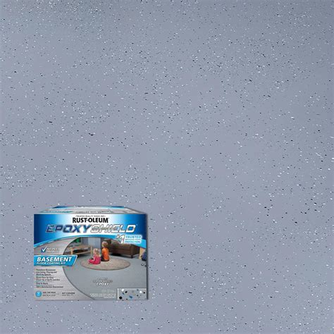 1 Gal Satin 1 Part Epoxy Acrylic Concrete And Garage Floor Paint - rust oleum rocksolid 70 oz metallic silver bullet garage