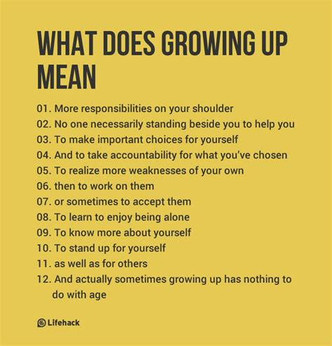 what do grown ups do what does growing up really mean