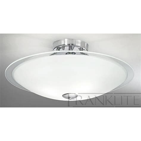 Flush Glass Ceiling Light Dysk Fl2212 3 Flush Ceiling 3 Light Chrome Glass