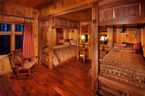 cabin bedroom guest cabin rustic bedroom other by desmone architects
