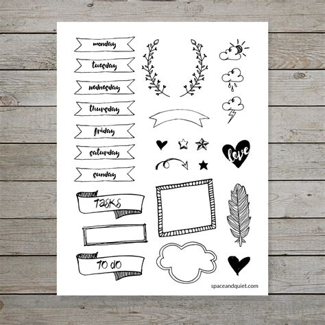 printable bullet journal ideas 10 tips for doodling bullet journal banners and headers